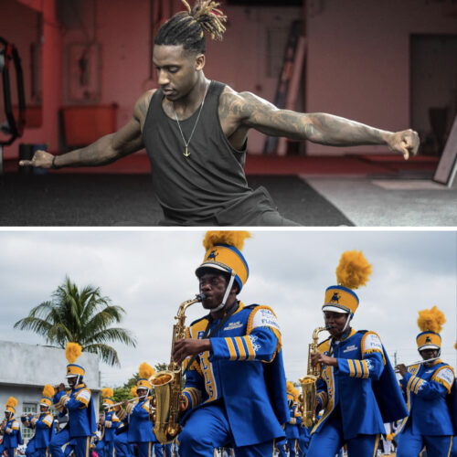 Pre-Workout Warm Up & Stretch with Reese Whitely & Miami Northwestern Senior High Marching Band