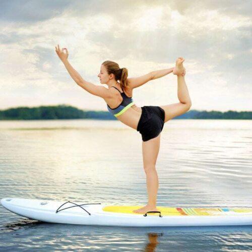 Paddle Board Yoga with Claudia Baeza from Pineapple Yoga + Cycling Studio